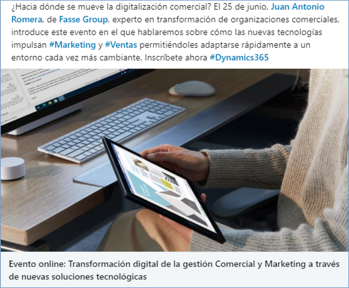 Transformación digital de la red comercial, con MICROSOFT