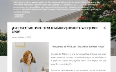 """¿Eres creativo? Jornada PADE, con la """"Mid Atlantic business school""""."""